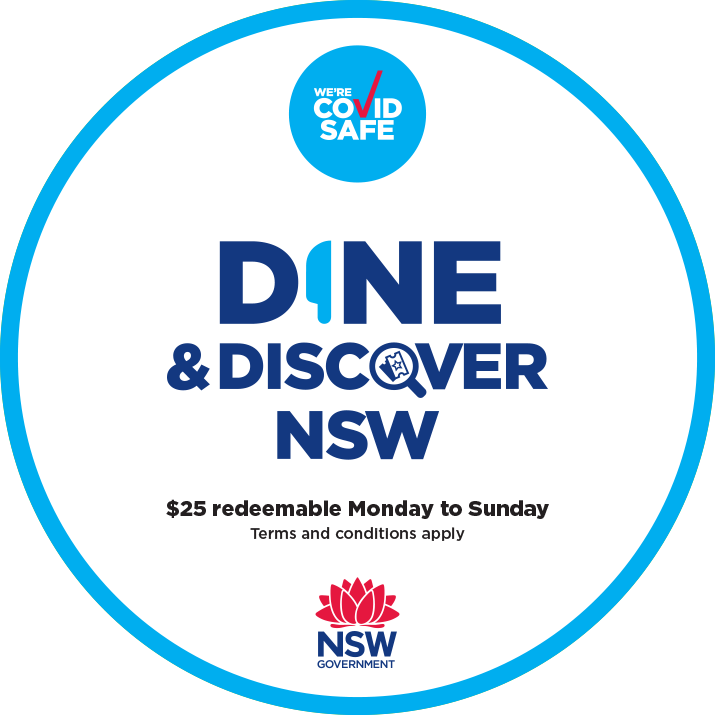 Dine and discover vouchers accepted